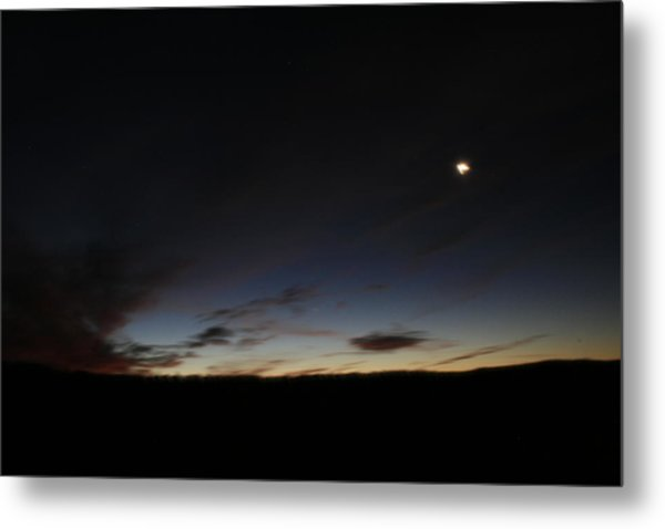 Moon Set Metal Print