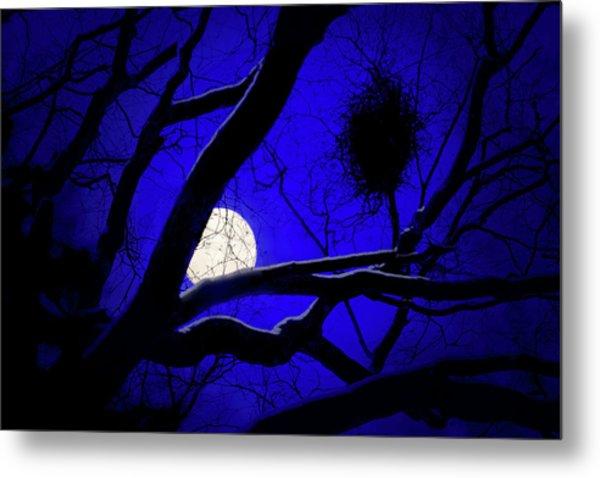 Moon Wood  Metal Print