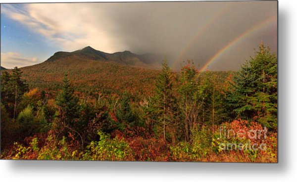 Moonbow Over The Kancamagus Metal Print