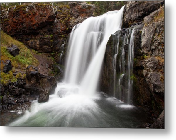 Moose Falls In Yellowstone National Park Metal Print