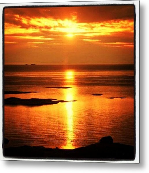 More Midnightsun :-) #art #abstract Metal Print