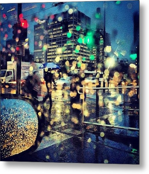 More #raindrops From The Car #colours Metal Print