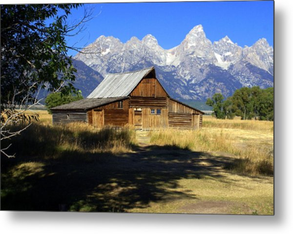 Mormon Row Barn Metal Print
