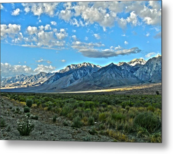 Morning In The Eastern Sierras Metal Print