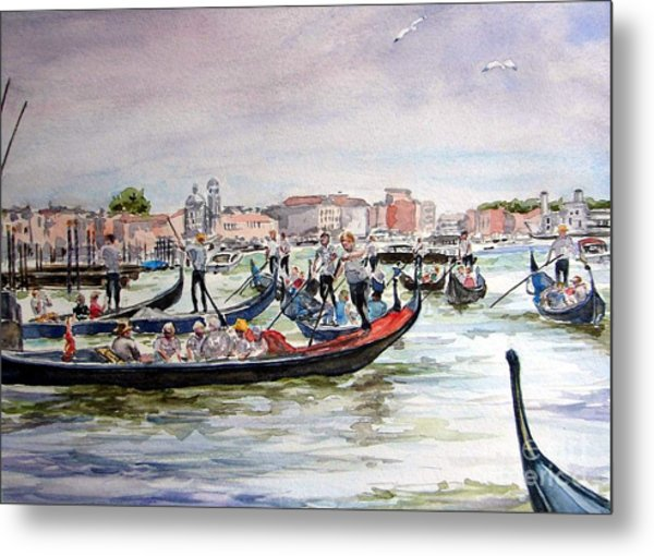 Morning On Grand Canal Metal Print