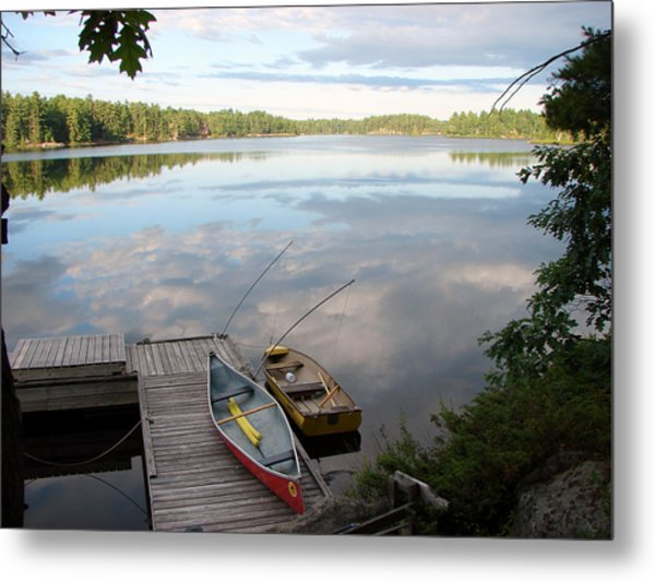 Morning On Pine Lake 1 Metal Print