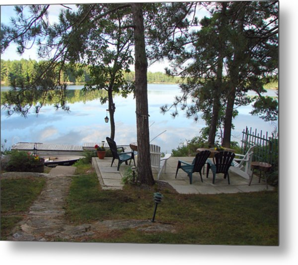 Morning On Pine Lake 2 Metal Print