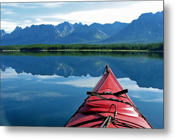 Morning Paddle Metal Print