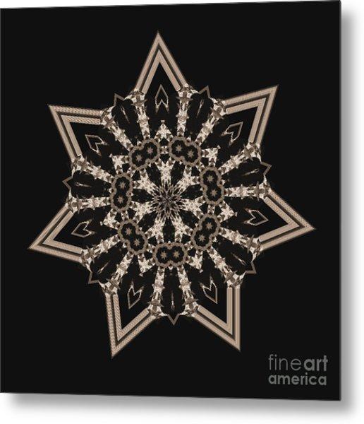 Mosaic Work Of Sepia Art  Metal Print