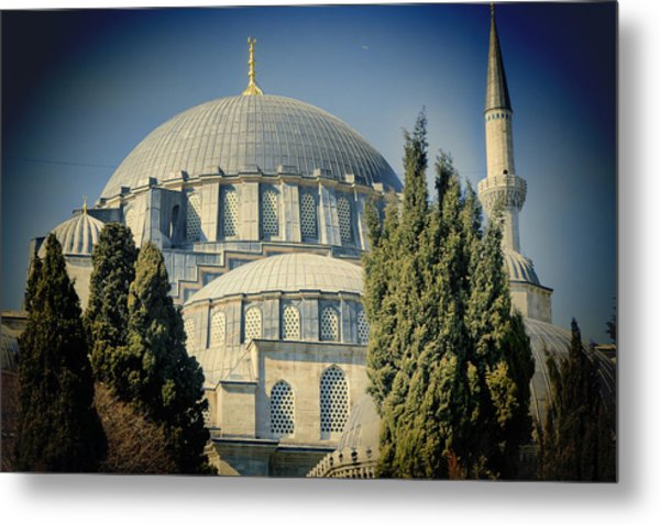 Mosque Magnificent Metal Print