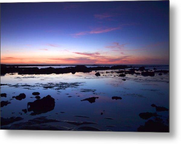 Moss Beach - Fitzgerald Reserve Reflection Metal Print