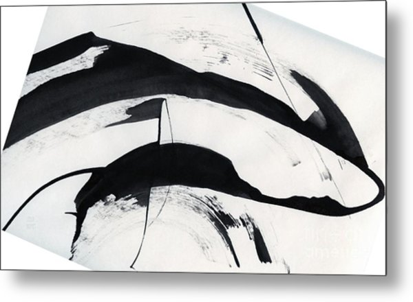 Mother And Baby Dolphins  Metal Print