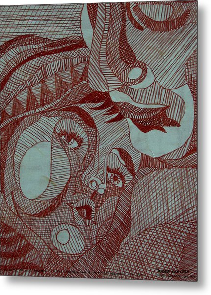 Mother And Child Metal Print by Andre Salvador