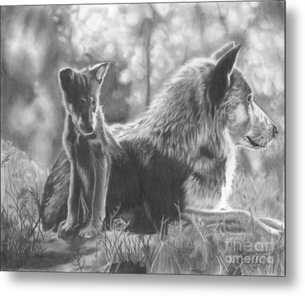 Mother And Pup Metal Print