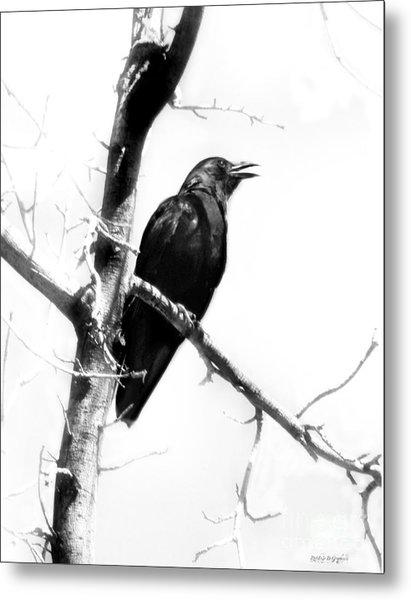 Mother Crow Metal Print