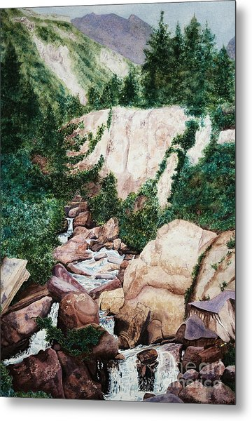 Mounrain Creek Falls Metal Print by Vikki Wicks
