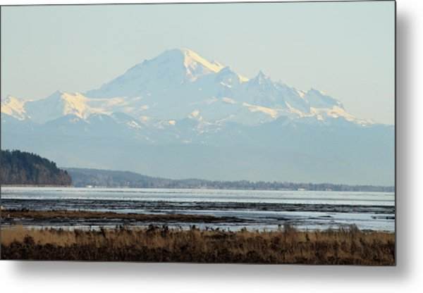 Mount Baker From Boundary Bay Metal Print by Pierre Leclerc Photography