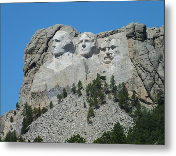 Mount Rushmore From A Different View Metal Print