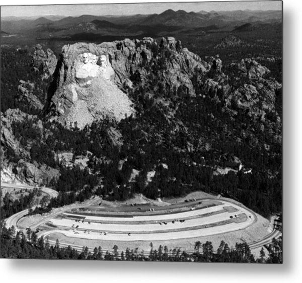 Mount Rushmore, With The Faces Of U.s Metal Print by Everett