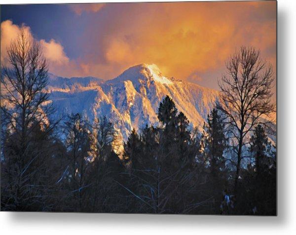 Mount Si Winter Wonder Metal Print by Scott Massey