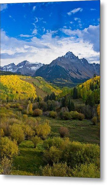 Mount Sneffels Under Autumn Sky Metal Print