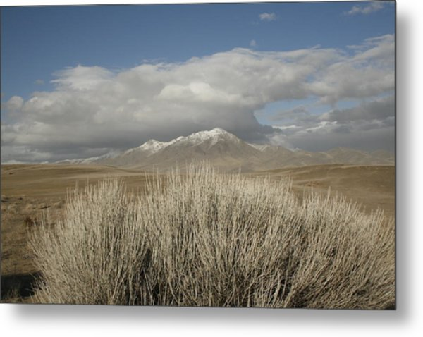 Mountain And Desert Metal Print