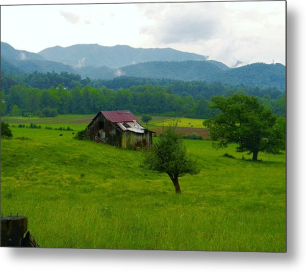 Mountain Barn Metal Print
