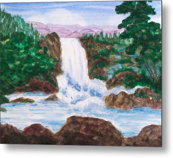 Mountain Falls Metal Print by Jeanette Stewart