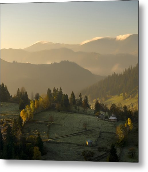 Mountain Landscape Metal Print by Ovidiu Bastea