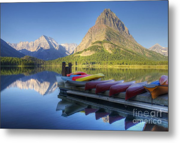 Mountain Recreation Metal Print