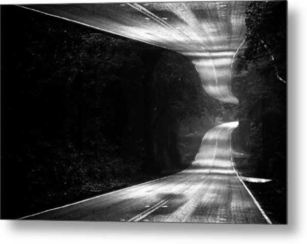 Mountain Road Dream Metal Print