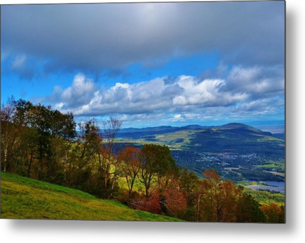 mountain sky Quebec Metal Print by Josee Dube