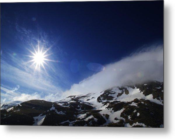 Mountain Sun Metal Print