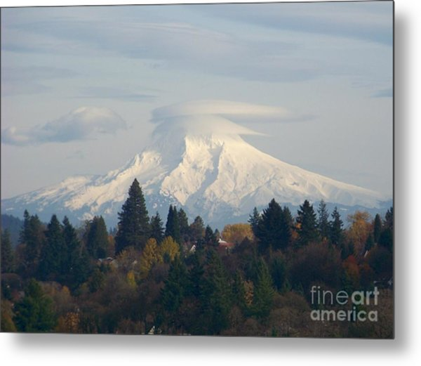 Mt Hood Snowcapped Metal Print