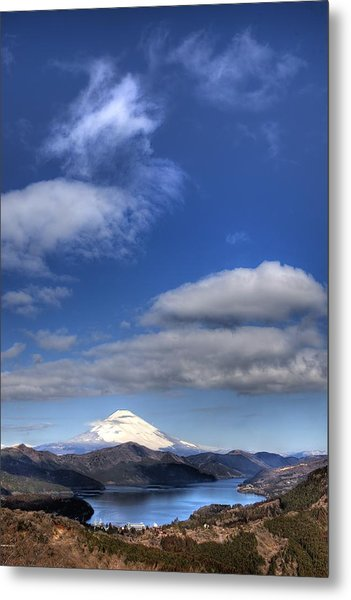 Mt.fuji And Lake Ashinoko Metal Print