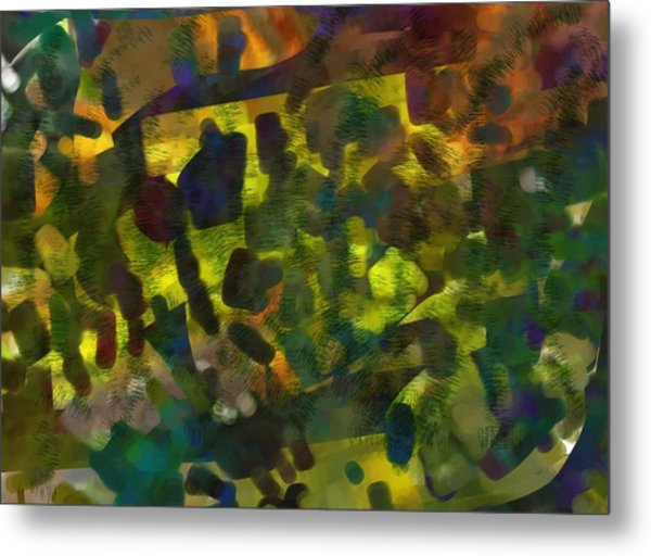 Multi-colored Abstract Metal Print by Christine Crawford