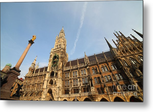 Munich City Hall Metal Print by Holger Ostwald