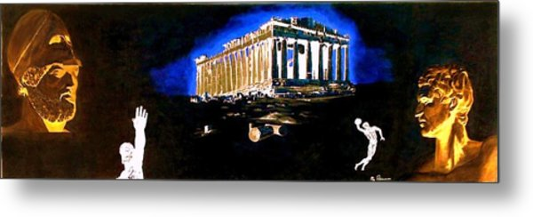 Mural - Night Metal Print