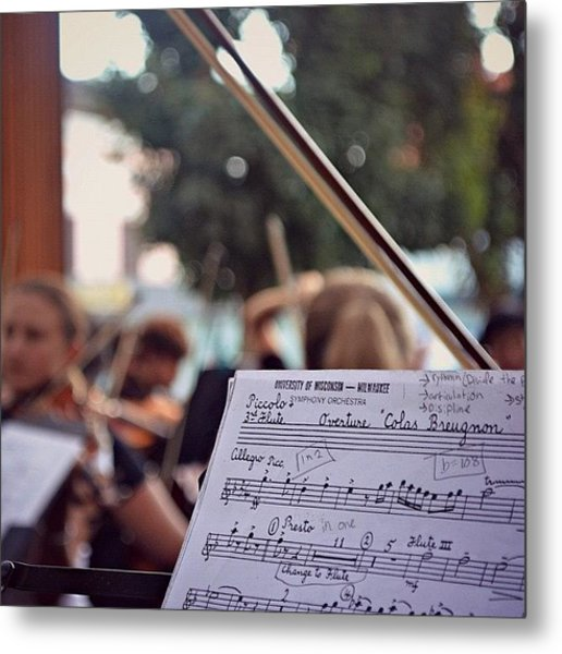 #music #bow #musicians #instruments Metal Print