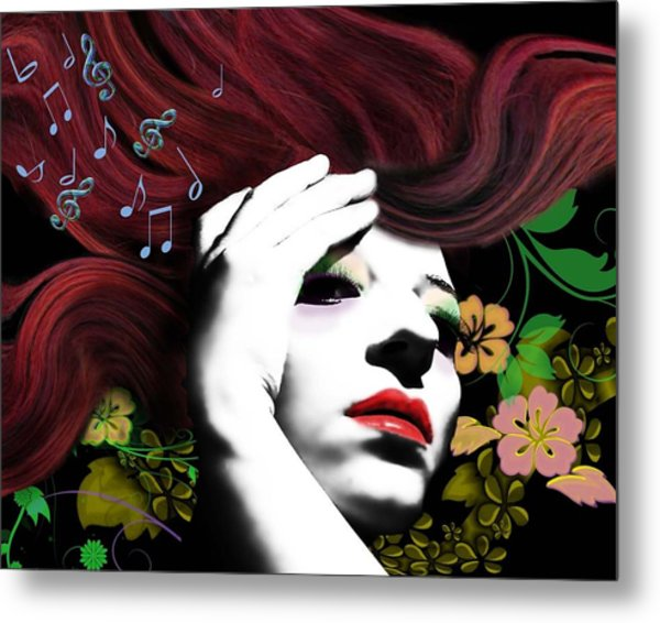 Music Muse Metal Print by Diana Shively