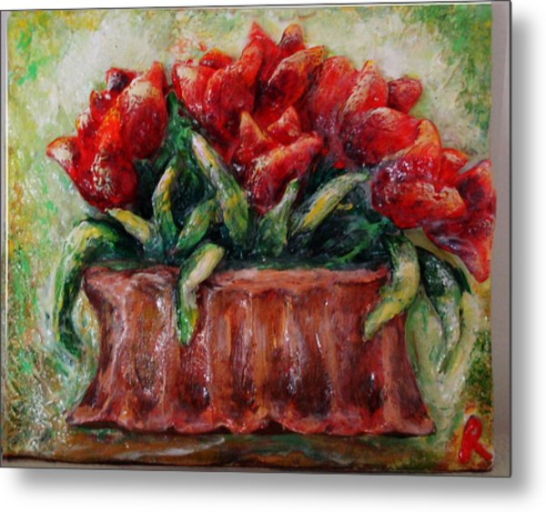 My Little Tulips  Metal Print