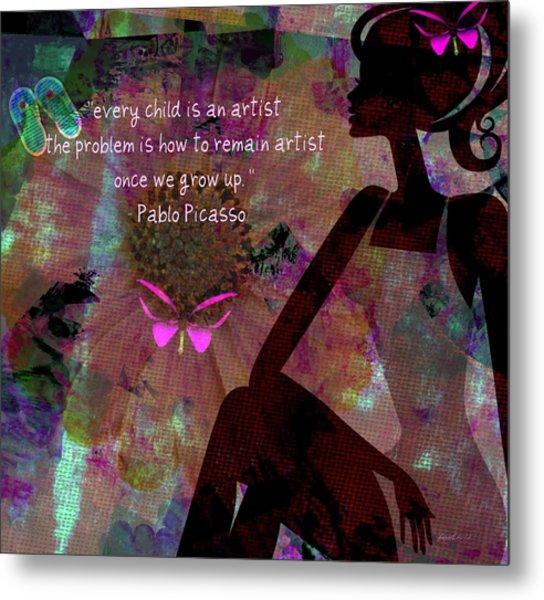 My Own Picasso Metal Print by Fania Simon
