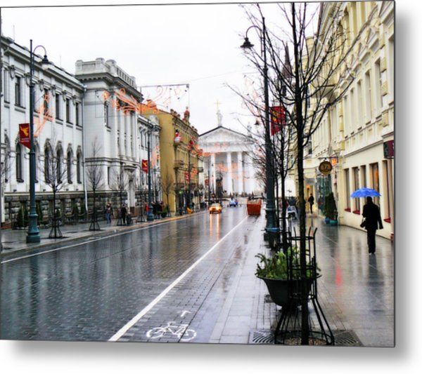 My Rainy City Metal Print