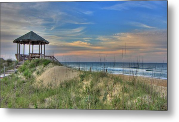 Nags Head Gazebo Metal Print