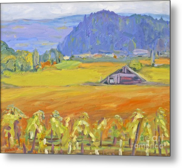 Napa Valley Mountains Metal Print