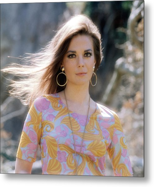 Natalie Wood, Wearing A Pucci Design C Metal Print by Everett