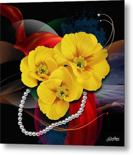 Natalys Flower Metal Print by Satish Verma