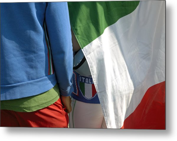 National Colors Of Italy - Green White And Red Metal Print by Matthias Hauser