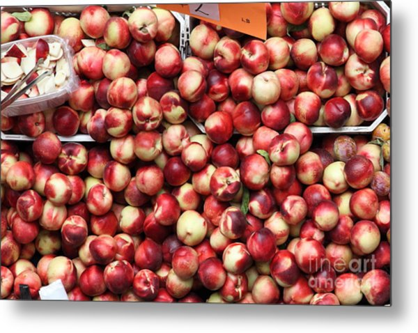 Nectarines - 5d17905 Metal Print by Wingsdomain Art and Photography