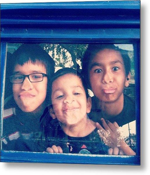Neighborhood Boys In #vw #bus #vanlife Metal Print